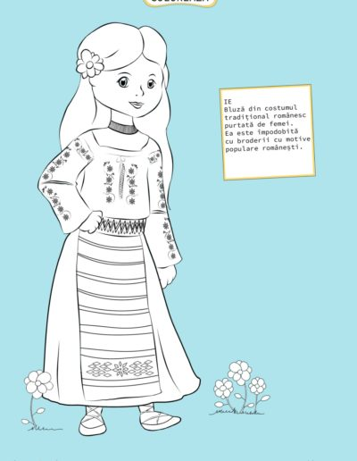 Romanian Girl Coloring Page