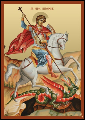 Romanian Saint George, the balaur slayer
