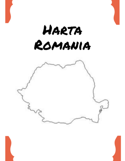 Romania for kids map