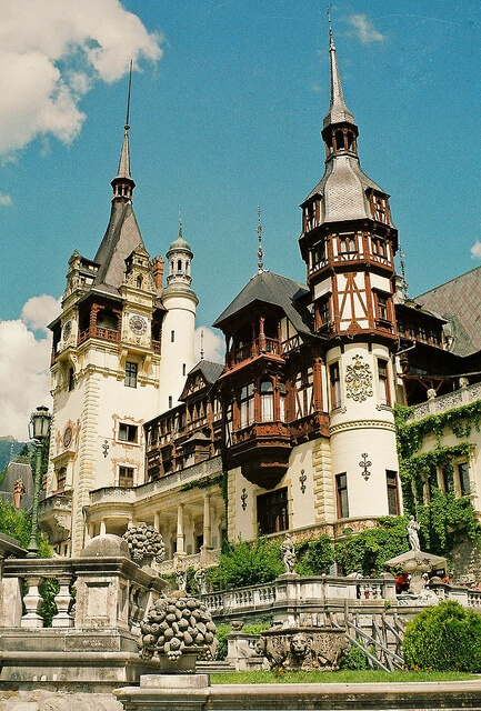 Transylvania with kids in summer Peleș Castle