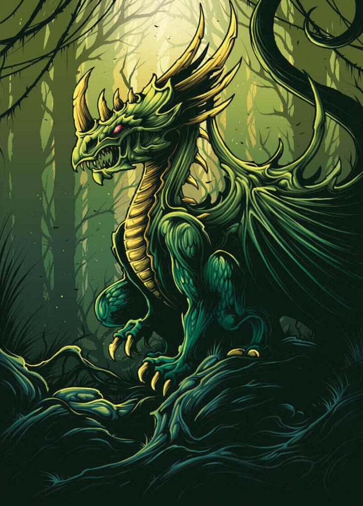 Romanian longhorn dragon