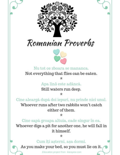 Romanian sayings