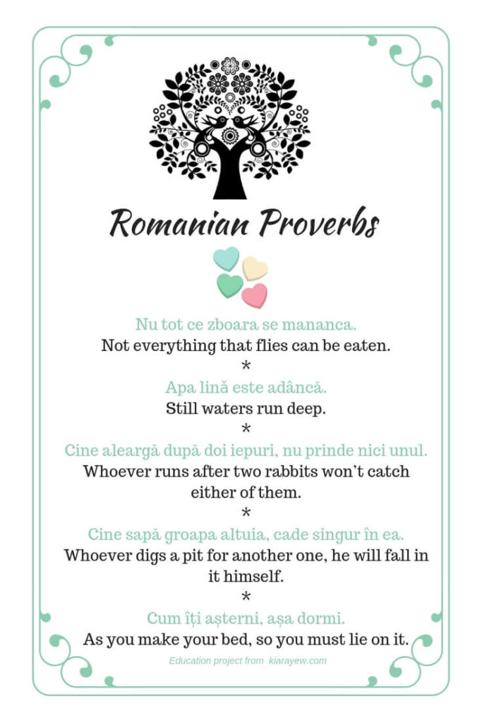 Romanian superstitions proverbs
