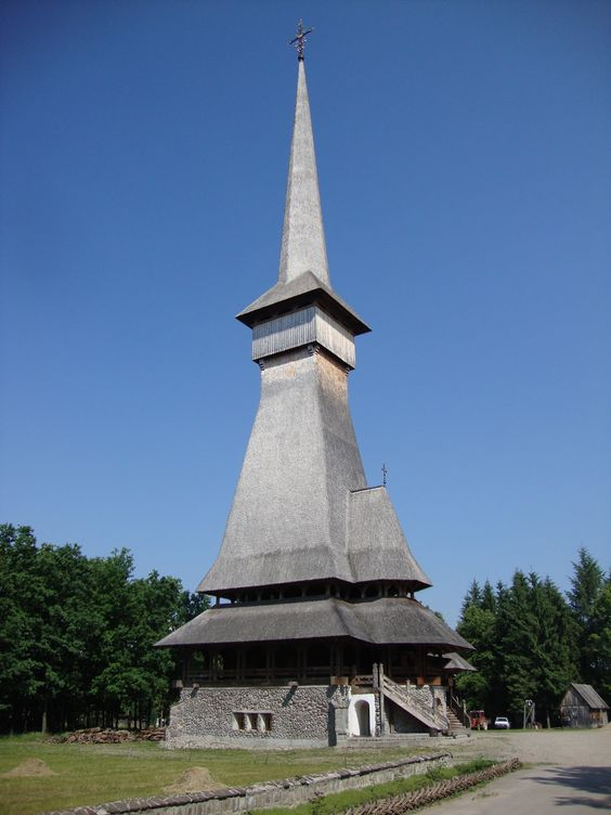the wooden churches of Maramureș -  the Săpânța Peri Church
