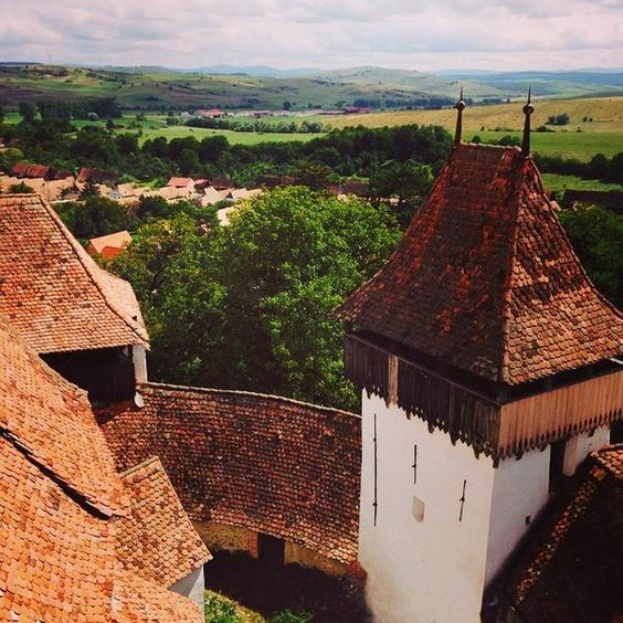 Transylvania with kids in summer viscri village