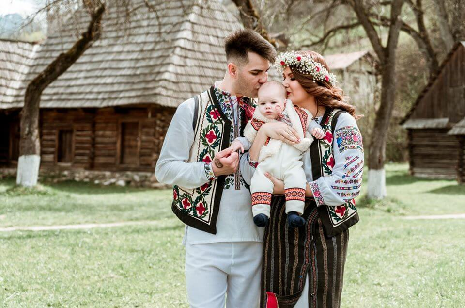 Happy Romanian family
