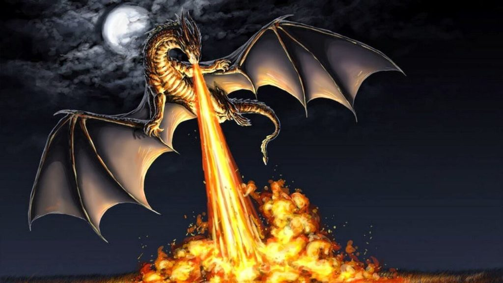 Fire-breathing balaur