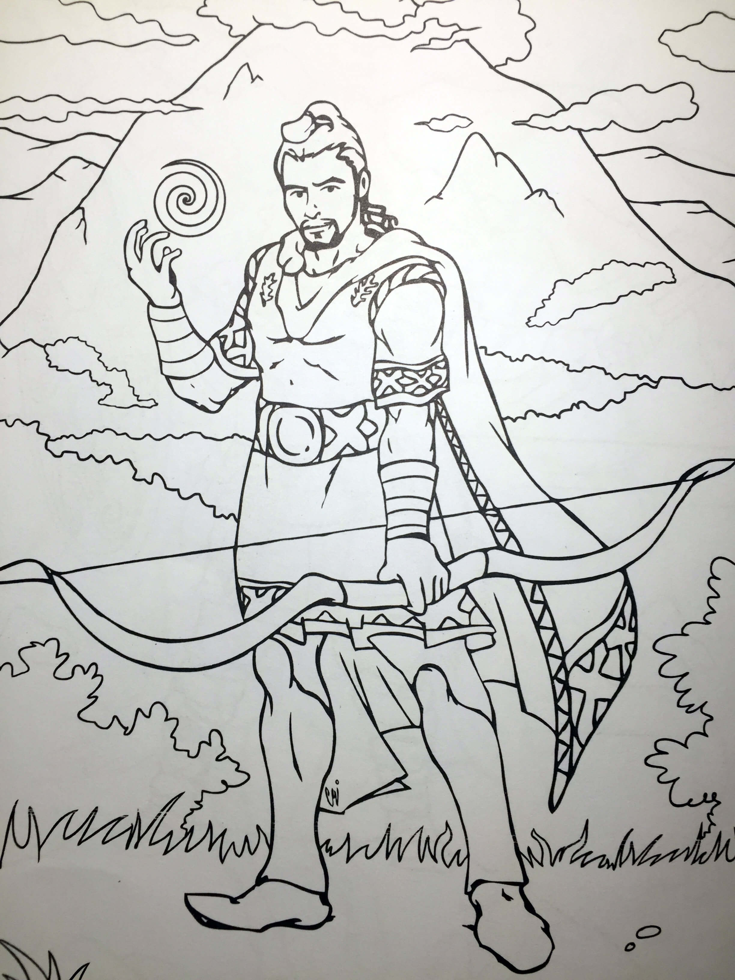 Dacian Archer Coloring Page