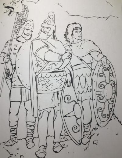 Dacian Wariors Coloring Page