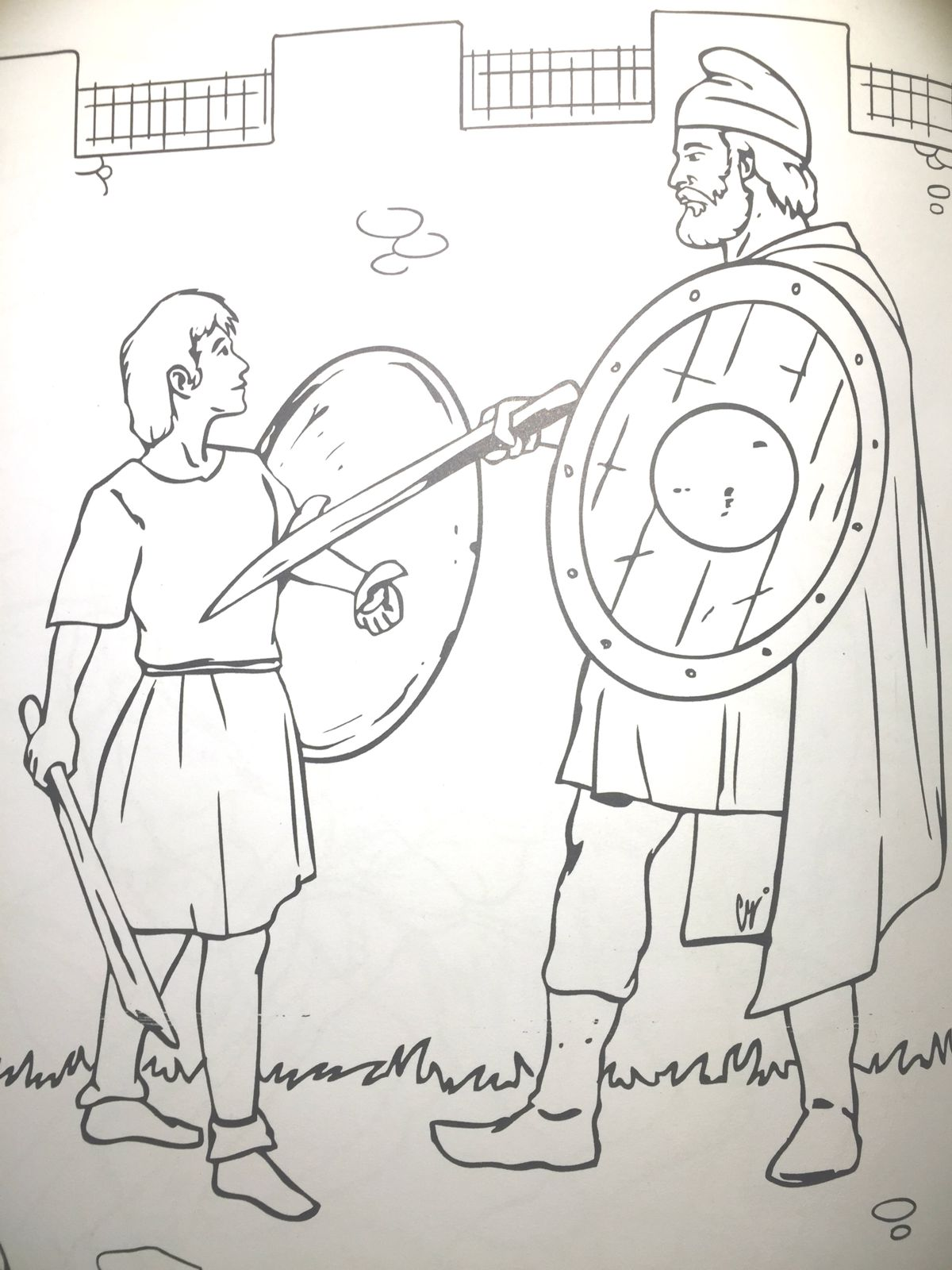 Dacians Sword Fight Training Coloring Page
