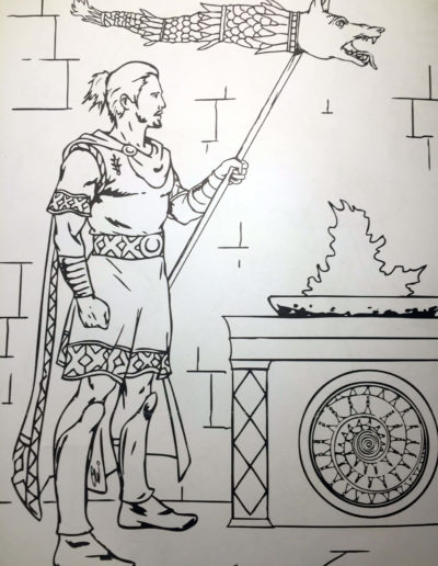 The Dacian Flag Coloring Page