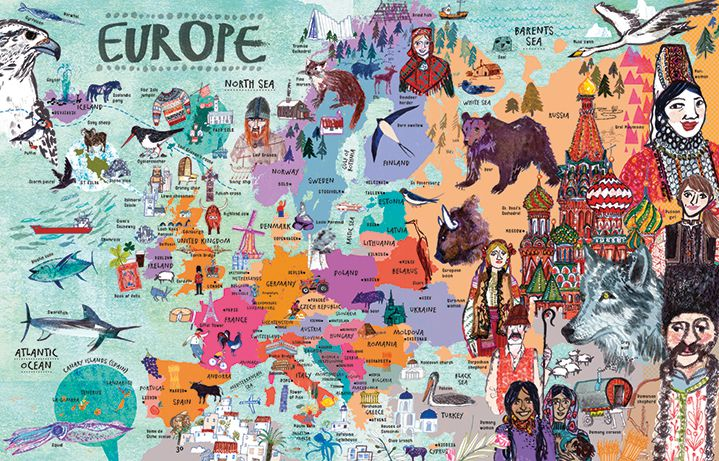 cand travel change your life map of Europe