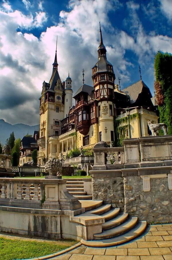 Peles Castle in Transylvania Romania