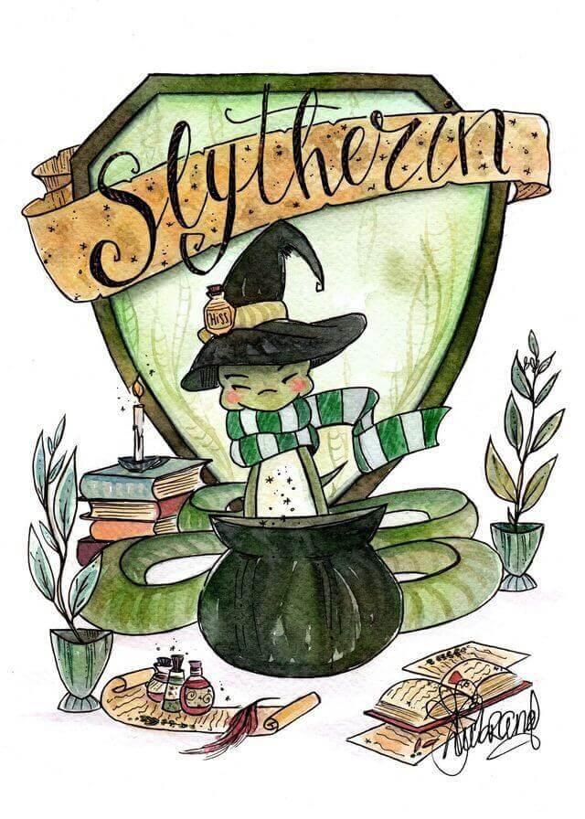 House of Slytherin animated logo