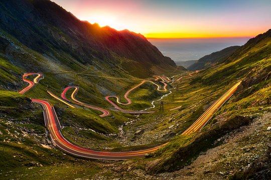 Transfăgărășan road in Transylvania Romania