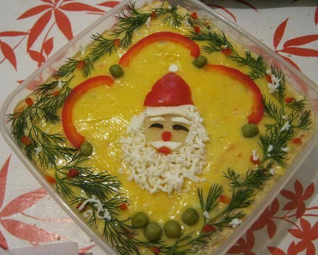 Romanian food boeuf salad